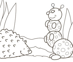 [Translate to Singapore (English):] NUK colouring page with hedgehog
