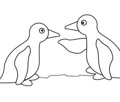 [Translate to Singapore (English):] NUK colouring page with penguin motif