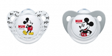 NUK Disney Mickey Soother 6-18 months - Black/White