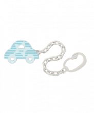 NUK Soother Chain car blue